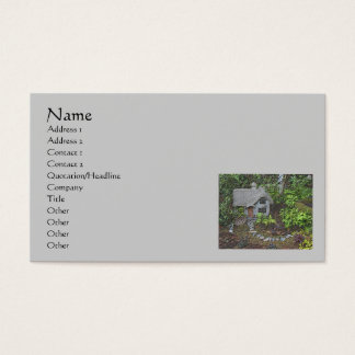 Cozy Garden Cottage Nature Art Business Card