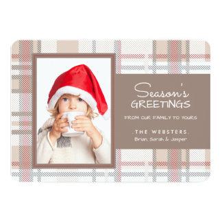 Cozy Season's Greetings Photo Holiday Card