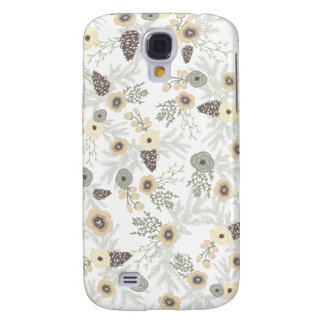 Cozy Winter Floral Pattern Galaxy S4 Case