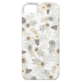 Cozy Winter Floral Pattern iPhone 5 Case