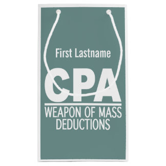 CPA custom name & color gift bags
