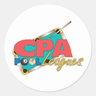 CPA Logo Designs Classic Round Sticker