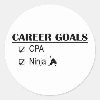 CPA Ninja Career Goals Classic Round Sticker