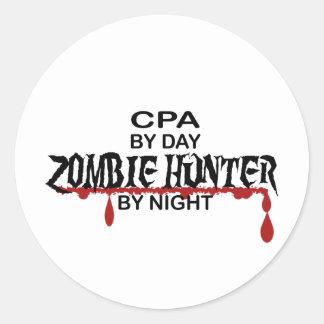 CPA Zombie Hunter Classic Round Sticker