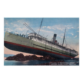 CPR SS Princess May WreckSentinel Island, AK Print