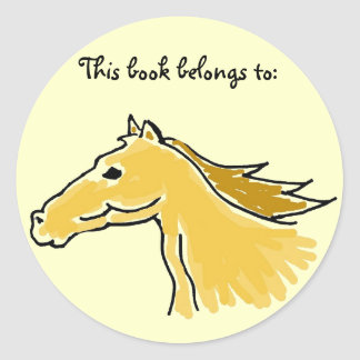 CQ- Horse 'This book belongs to:' stickers