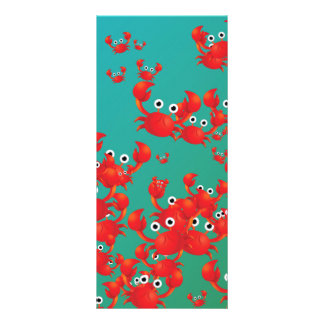 Crab world personalized rack card