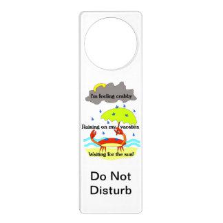 Crabby Day Haiku Do Not Disturb Sign