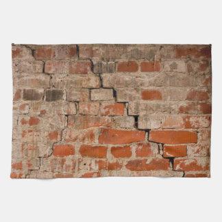 Cracked brick wall hand towel