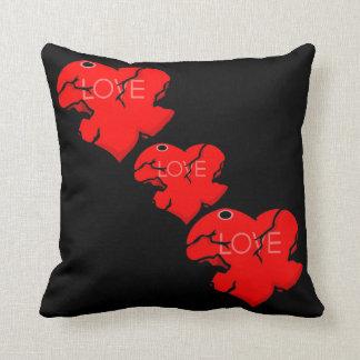 Cracked + Broken Heart Pillows
