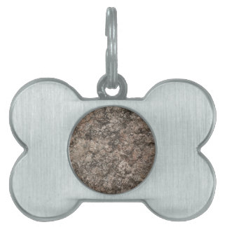 Cracked Dry Desert Ground Floor Texture Background Pet ID Tags