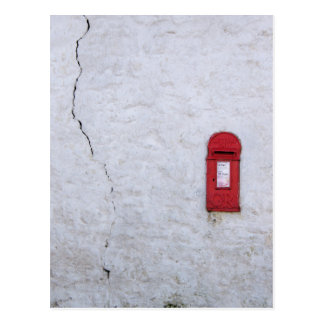Cracked house postbox postcard