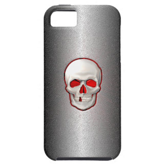 Cracked Metal - 3D Glowing Skull Inlay iPhone 5 Cover