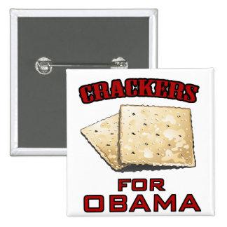 Crackers for Obama 15 Cm Square Badge