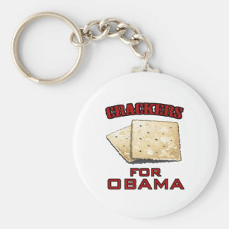 Crackers for Obama Basic Round Button Key Ring