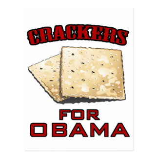 Crackers for Obama Postcard