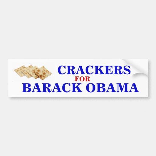 Crackers for Obama sticker Bumper Stickers