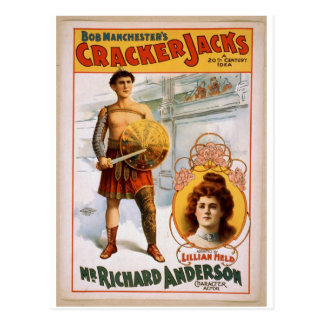 Crackers Jacks Mr Richard Anderson Vintage Thea Post Card