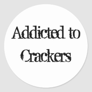 Crackers Round Sticker