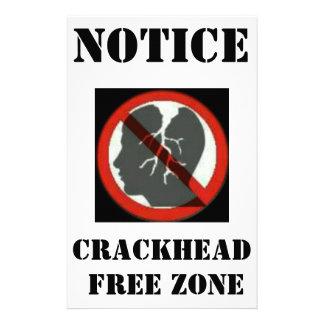 CRACKHEAD FREE ZONE FLYER