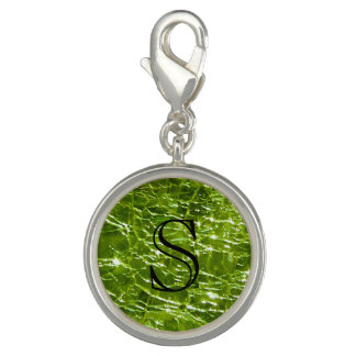 Crackled Glass Birthstone Design - August Peridot