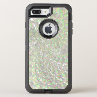 Crackled Glass Swirl Design - Opal OtterBox Defender iPhone 8 Plus/7 Plus Case