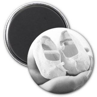 Cradled Baby Shoes Fridge Magnet