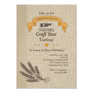 Craft Beer Tasting Invitation