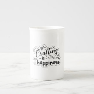 Crafting is Happiness - Bone China Mug
