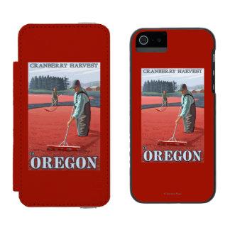 Cranberry Bogs Harvest Vintage Travel Poster Incipio Watson™ iPhone 5 Wallet Case