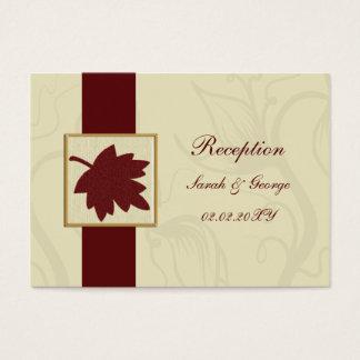 cranberry fall leaf fall autumn wedding business card