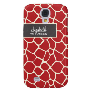 Cranberry Giraffe Pern Galaxy S4 Case
