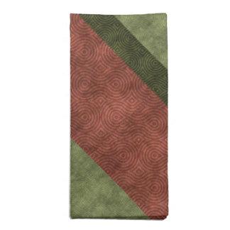 Cranberry Green Figure Eight Texture Stripes Napkin