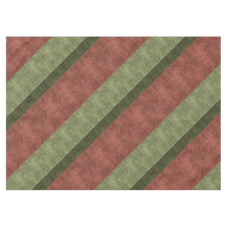 Cranberry Green Figure Eight Texture Stripes Tablecloth