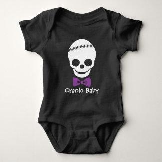 Cranio Baby Boy Skull with Purple Bowtie T-shirt