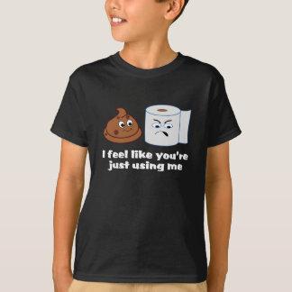 Cranky Toilet Paper Feels Used By Cute Little Poop T-Shirt