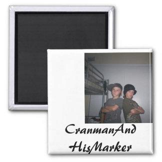 CranmanAndHisMarker Square Magnet