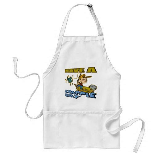 Crappie Day Fishing T-shirts and Gifts Aprons