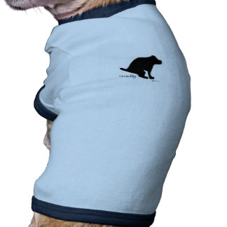 """Crapping on Cruelty"" Ringer Dog Shirt"
