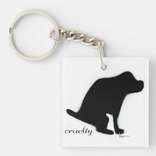 """""""Crapping on Cruelty"""" Acrylic Key Chain"""