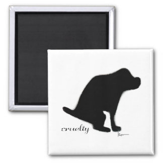 """Crapping on Cruelty"" Square Magnet"