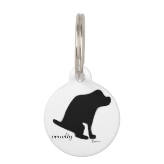 """""""Crapping on Cruelty"""" Pet Nametag"""
