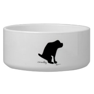 """Crapping on Cruelty"" Pet Water Bowls"