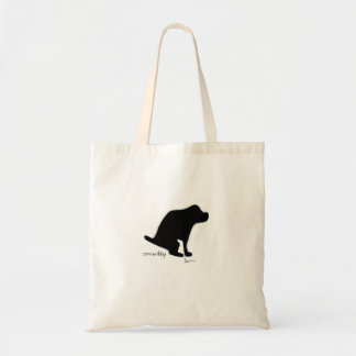 """""""Crapping On Cruelty"""" Tote Bags"""