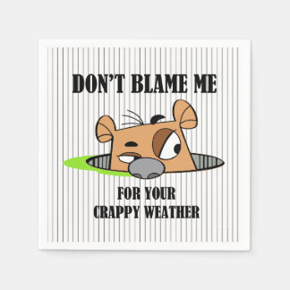 Crappy Weather Groundhog Day Party Paper Napkins