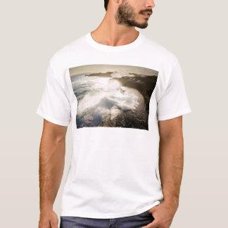 Crashing waves volcanic coast T-Shirt