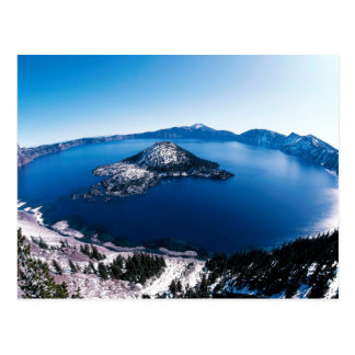 Crater Lake Aerial Photograph Postcard