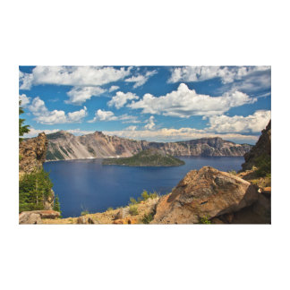 Crater Lake and Wizard Island, Crater Lake Gallery Wrap Canvas