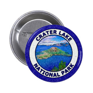 Crater Lake National Park 6 Cm Round Badge