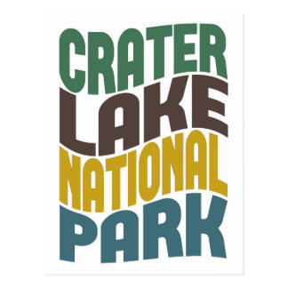Crater Lake National Park Retro Wave Post Card